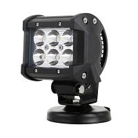 Lampa iluminat 6 leduri 10-30V 18W - unghi radiere 30 de grade tip spot 4/9.8cm 6000K IP67 Breckner Germany